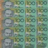 Australische dollarsachtergrond Stock Fotografie