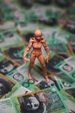 Australische 100 dollarsrekeningen Stock Foto's