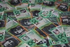 Australische 100 dollarsrekeningen Royalty-vrije Stock Foto's