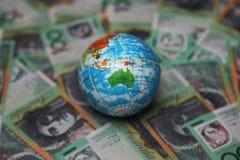 Australische 100 dollarsrekeningen Royalty-vrije Stock Foto