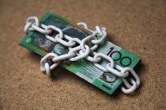 Australische 100 dollarsrekeningen Royalty-vrije Stock Afbeeldingen