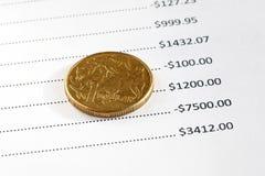 Australische Financiën Royalty-vrije Stock Foto's