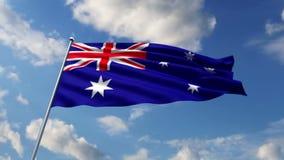 Australische Flagge stock abbildung