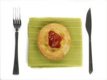 Australische Fleisch-Torte Stockfotografie