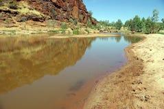 Australische Flussansicht stockbild