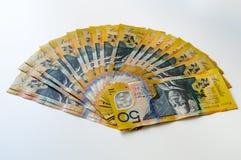 Australische geld- australische Währung Lizenzfreies Stockbild