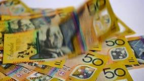 Australische Geld-Finanzierung stock footage