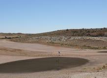 Australische golfcursus van kiezelstenen Stock Afbeeldingen