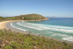 Australische Küste im Wilsons-Vorgebirge-Nationalpark Stockfotos