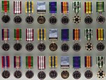 Australische Krieg-Medaillen Stockbild
