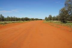 Australische landelijke weg Stock Foto