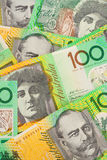Australische Munt $100 de Achtergrond van Bankbiljetten Royalty-vrije Stock Afbeelding