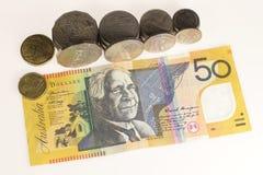 Australische munt Stock Foto's