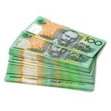 Australische Munt $100 Bankbiljetten Stock Foto's