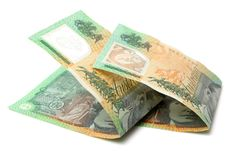 Australische Munt $100 BanknotesDetail Royalty-vrije Stock Foto