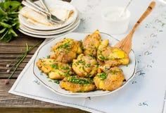 Australische Neerstortings Hete Aardappels met Zure room Royalty-vrije Stock Foto