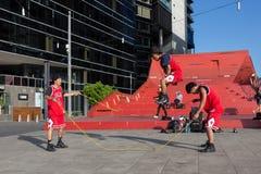2016 australische offen- Melbourne-Straßen-Ausführende Lizenzfreie Stockbilder