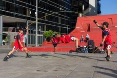 2016 australische offen- Melbourne-Straßen-Ausführende Stockbilder