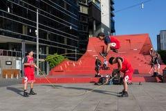 2016 australische offen- Melbourne-Straßen-Ausführende Lizenzfreies Stockfoto