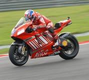 Australische Ontpitter Casey van Ducati Marlboro bij 2007 Stock Foto