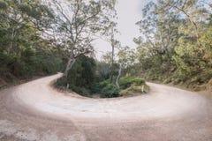 Australische open landweg - haarspeldkromming Royalty-vrije Stock Afbeelding