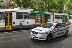Australische politiewagen Stock Afbeeldingen