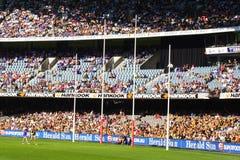 Australische regelsvoetbal Royalty-vrije Stock Afbeelding