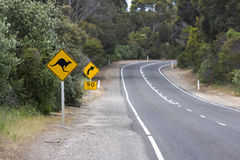 Australische Roadsign Stock Fotografie