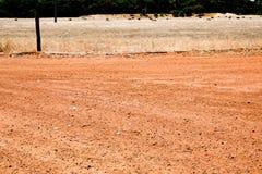 Australische rode aardeweg Royalty-vrije Stock Afbeelding
