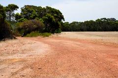 Australische rode aardeweg Stock Fotografie