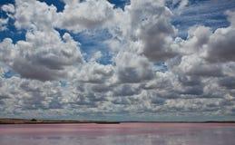 Australische Skyline und rosa Strang Stockfotos