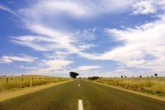 Australische Straße Stockfotografie