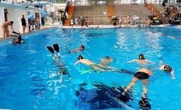 Australische Unterwasserrugby-Angehörige 2018 Stockfotos