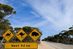 Australische verkeersteken Stock Foto's
