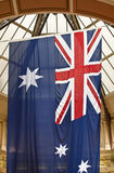 Australische verticaal opgeschorte vlag Stock Afbeelding