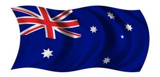 Australische Vlag Royalty-vrije Stock Foto's