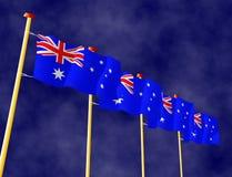 Australische vlaggen Stock Fotografie