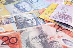 Australischer Bargeld-Hintergrund Lizenzfreie Stockfotografie