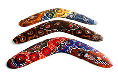 Australischer Boomerang. Lizenzfreie Stockbilder