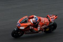 Australischer Casey Entkerner von Ducati Marlboro bei 2007 Stockbild