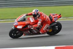 Australischer Casey Entkerner von Ducati Marlboro bei 2007 Stockfotografie