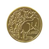 Australischer Dollar-Münze Stockfotografie