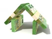 Australischer Dollar merkt Haus-Perspektive Stockbilder