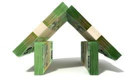 Australischer Dollar merkt Hausfassade Stockfotos