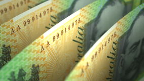 Australischer Dollar-Nahaufnahme lizenzfreie abbildung
