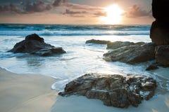 Australischer Meerblick am Sonnenaufgang Stockfotografie
