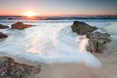 Australischer Meerblick am Sonnenaufgang Stockfoto