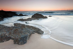 Australischer Meerblick am Sonnenaufgang Lizenzfreie Stockfotografie