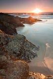 Australischer Meerblick am Sonnenaufgang am vertikalen Format Lizenzfreies Stockbild