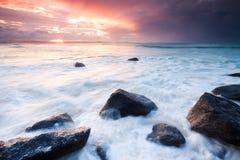 Australischer Meerblick während des Sonnenuntergangs Stockbild